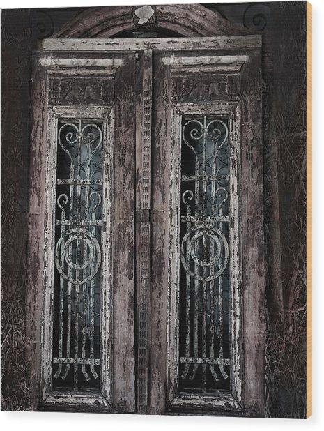 The Secret Garden Wood Print by Larry Butterworth