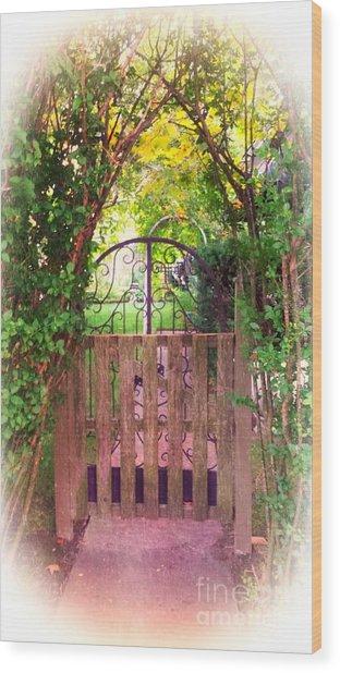 The Secret Gardens Gate Wood Print