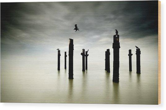 The Sentinels Wood Print