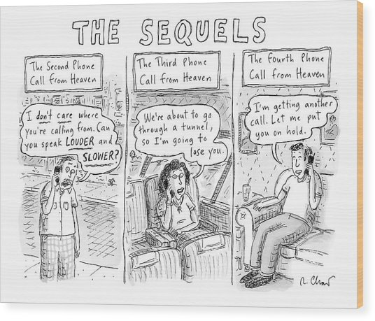 The Sequels 3 Panels Parodying A Book Called Wood Print