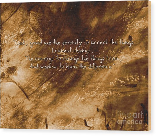 The Serenity Prayer 1 Wood Print