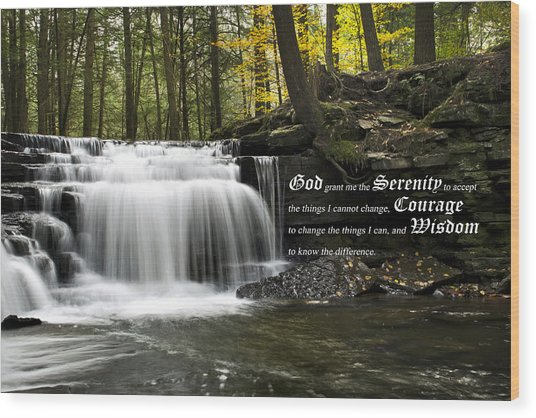 The Serenity Prayer Wood Print