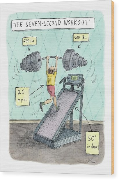 The Seven Second Workout Wood Print
