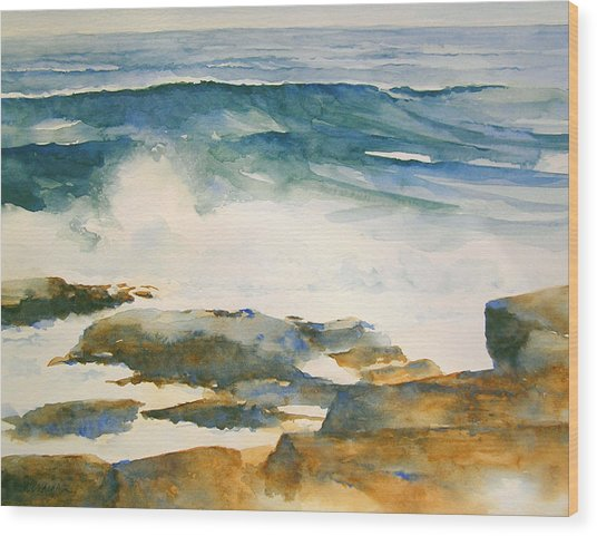 The Seventh Wave Wood Print