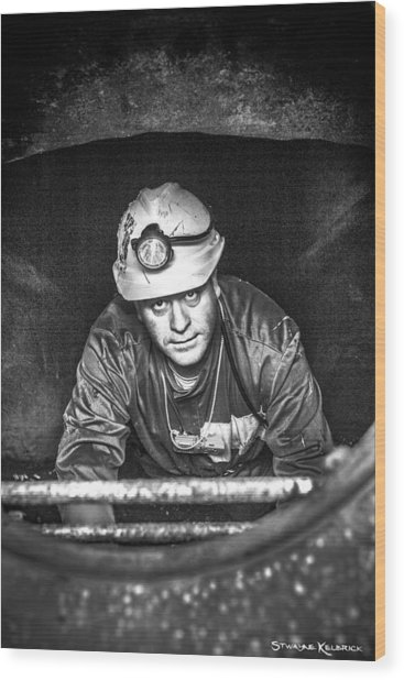 Wood Print featuring the photograph The Sewer Guy by Stwayne Keubrick