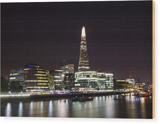 The Shard And City Hall  Wood Print by Wayne Molyneux