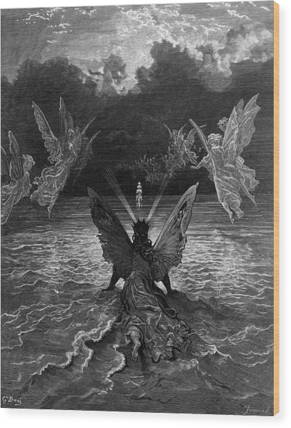 The Ship Continues To Sail Miraculously Moved By A Troupe Of Angelic Spirits Wood Print