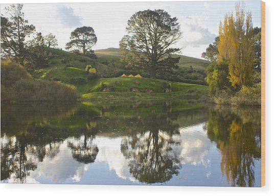 The Shire Middle Earth Wood Print