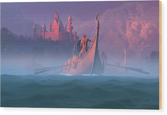 The Shores Of Valhalla Wood Print