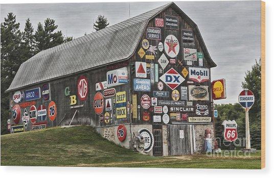 The Sign Barn Wood Print