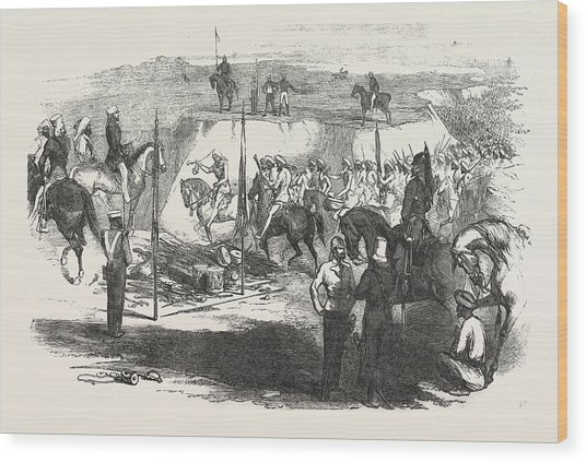 The Sikh Cavalry Deliveling Up Their Arms At Rawul Pindee Wood Print