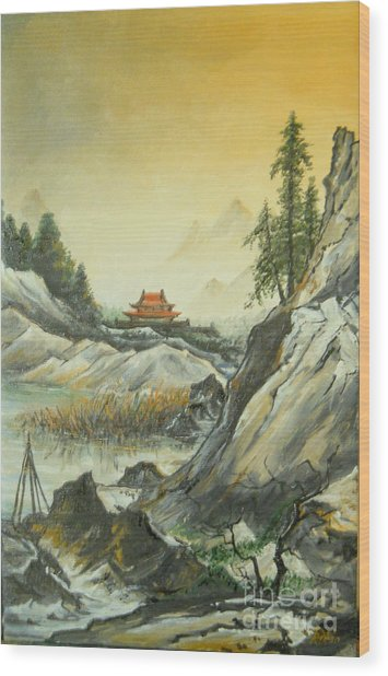 The Silence In The Mountains Wood Print