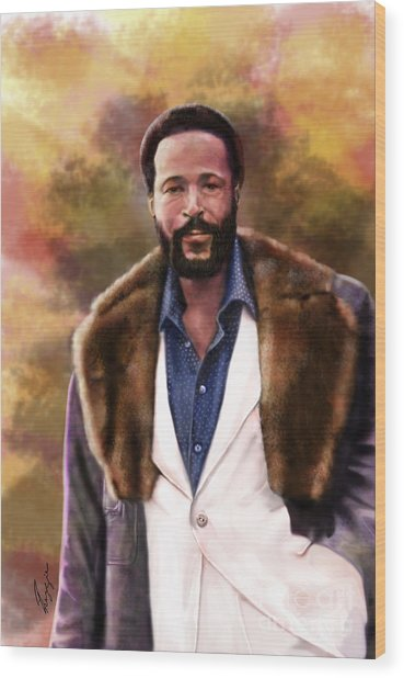 The Silky Silky Soul Singer - Marvin Gaye  Wood Print
