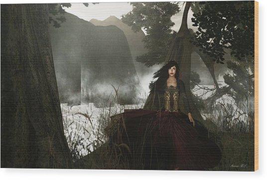 The Siren's Isle Wood Print