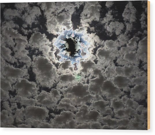 The Sky Is Torn Wood Print
