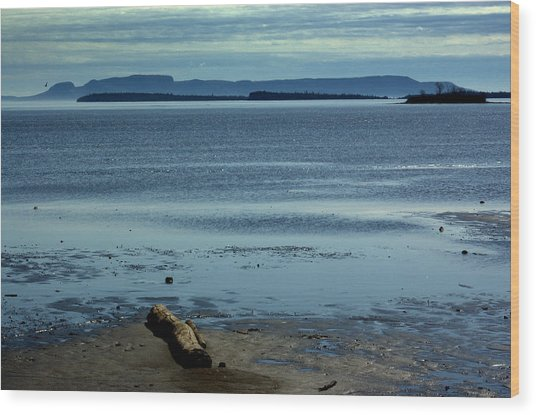 The Sleeping Giant At Low Tide Wood Print