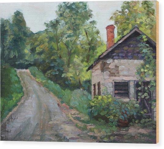 The Smokehouse Wood Print