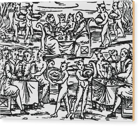 The Sorcerers Feast Wood Print