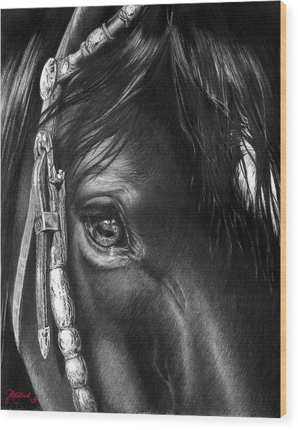 the Soul of a Horse Wood Print