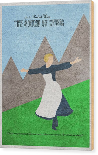 The Sound Of Music Wood Print