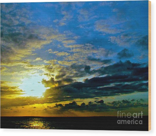 The Sound Of Sky Wood Print by Q's House of Art ArtandFinePhotography