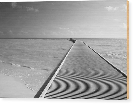 The Southernmost Pier Wood Print