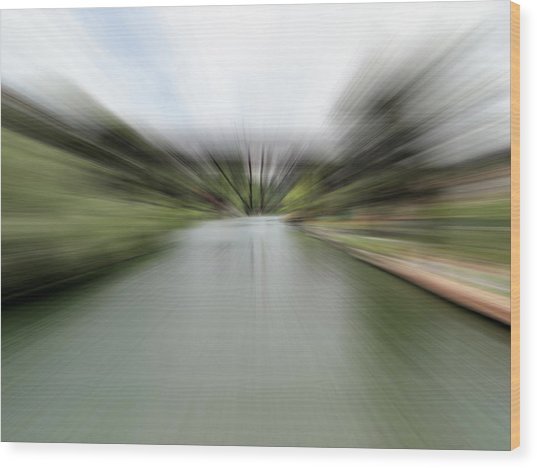 The Speed Of Calm Wood Print