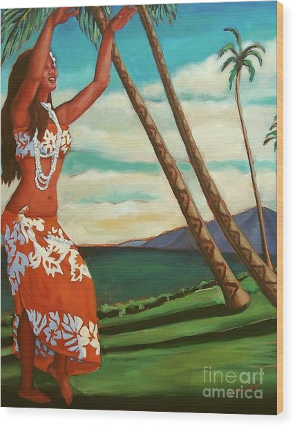 The Spirit Of Hula Wood Print