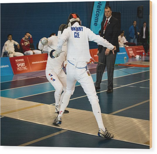 The Sport Of Fencing 1 Wood Print