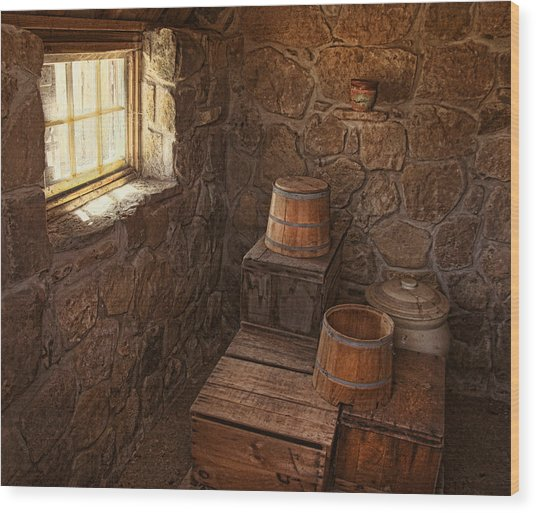 The Spring House Wood Print by Pat Abbott