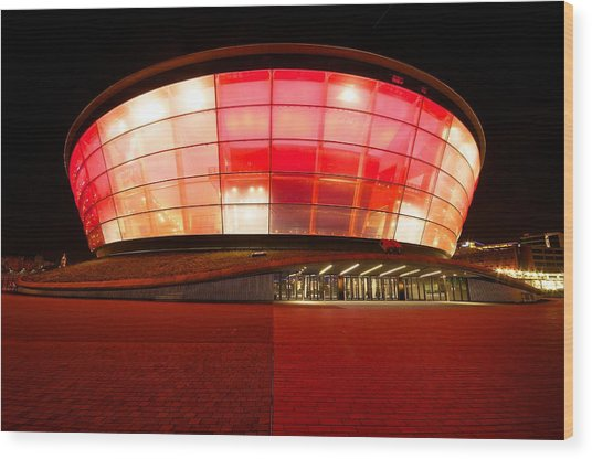 The Sse Hydro In Red Wood Print