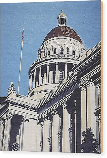 The State Capitol Wood Print by Paul Guyer