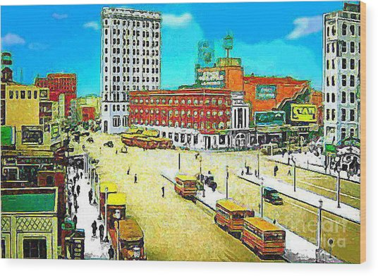 The State Theatre On Journal Sq. In Jersey City N J In 1930. Wood Print