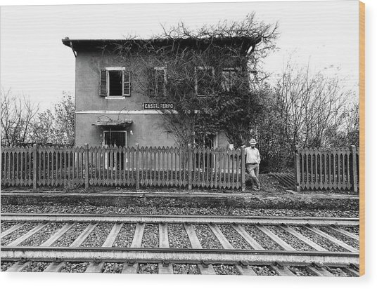 The Station Of Castelferro Wood Print