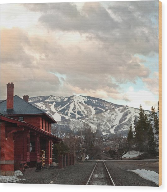 The Steamboat Depot Wood Print