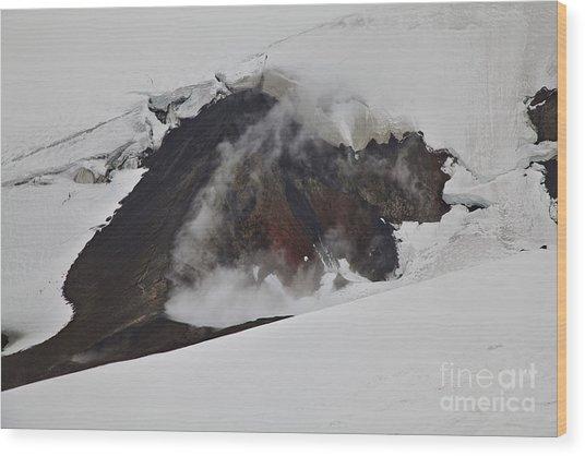 The Steaming Eyjafjallajoekull Wood Print
