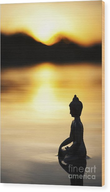 The Stillness Of Sunrise Wood Print