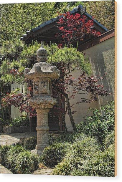 The Stone Lantern Wood Print