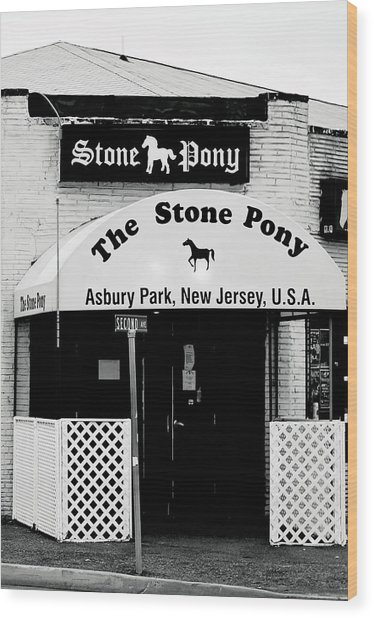 The Stone Pony Asbury Park Nj Wood Print