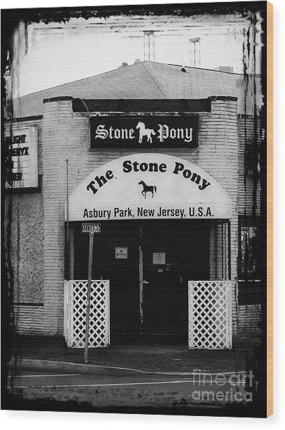 The Stone Pony Wood Print