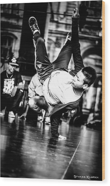 Wood Print featuring the photograph The Street Dancer by Stwayne Keubrick