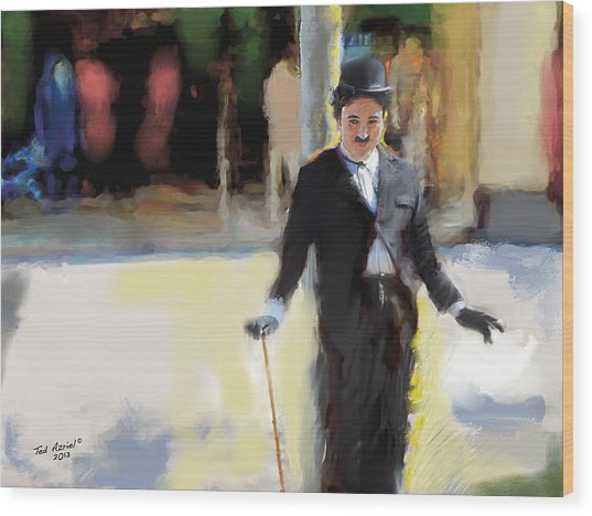 The Street Entertainer Wood Print