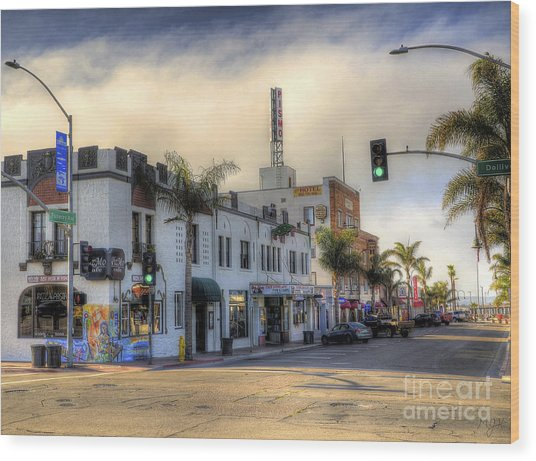 The Streets Of Pismo Beach Wood Print