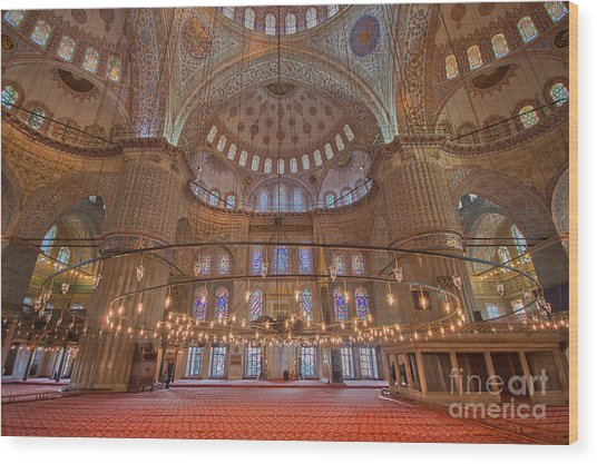 The Sultanahmet Mosque Istanbul Wood Print