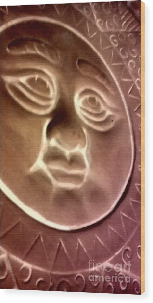 The Sun Wood Print by Marlene Williams