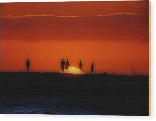 The Sun Worshipers Wood Print