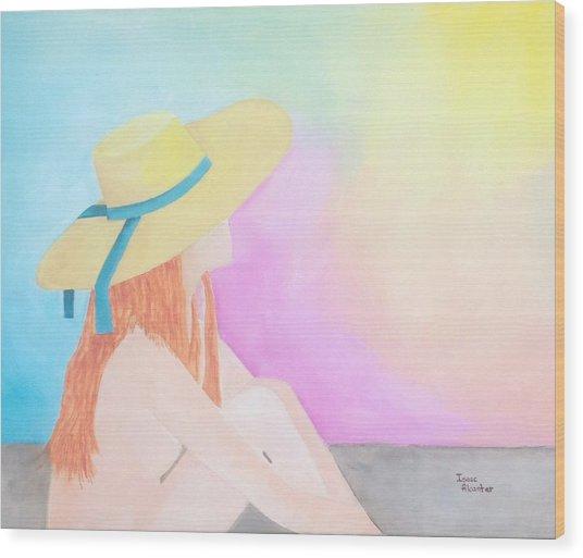 The Sunbathing Wood Print