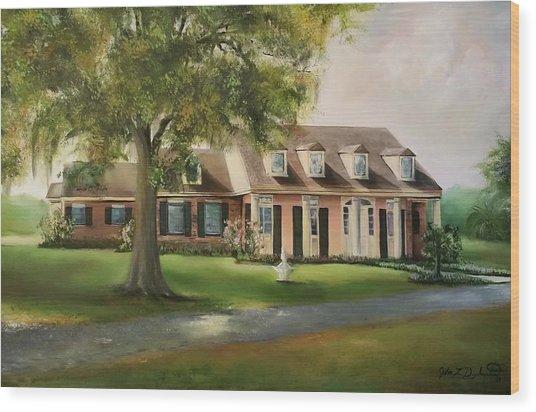 The Sunrise House Wood Print