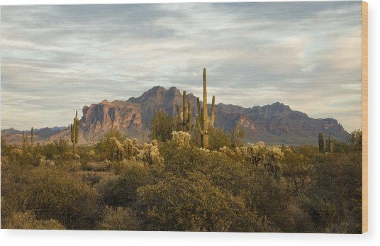 The Superstition Mountains Wood Print