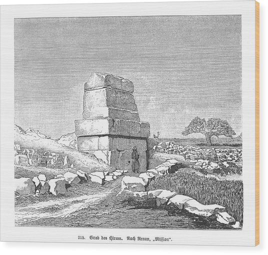 The Supposed Tomb Of Hiram I,  King Wood Print